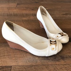 Tory Burch white wedges in size 8M